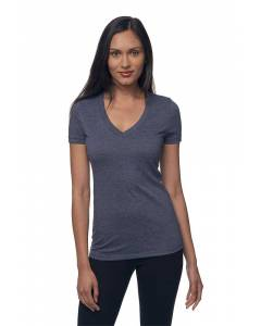 Small Image of Style 17030WWomens 50/50 Blend V-Neck