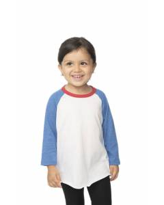 Small Image of Style 17660Toddler Americana Raglan Baseball Shirt