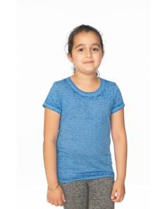 Small Image of Style 22510BOYouth Burnout Wash Short Sleeve Girls Tee