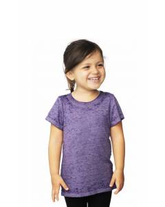Small Image of Style 22580BOToddler Burnout Wash Short Sleeve Girls Tee