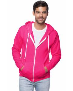 Small Image of Style 3150NUnisex Fashion Fleece Neon Zip Hoody