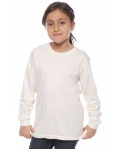 Small Image of Style 5022ORGOrganic Youth Long Sleeve Crew Tee